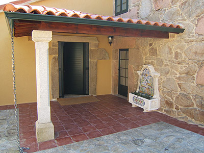 Porch in enclosed Patio