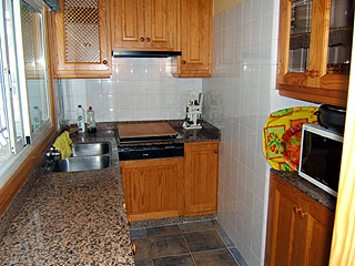 Small but well fitted kitchen